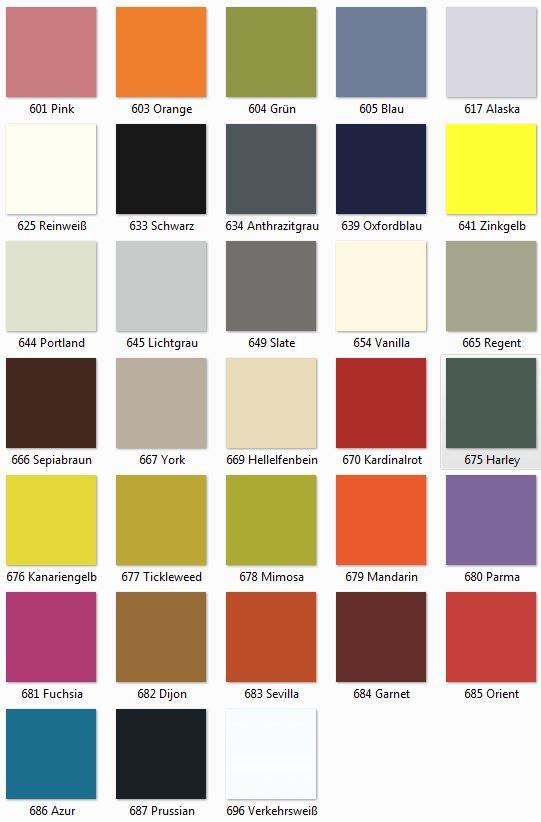 bisley online bisley farbe farbtabellen. Black Bedroom Furniture Sets. Home Design Ideas